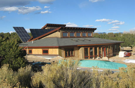 100% Passive Solar Heated Home